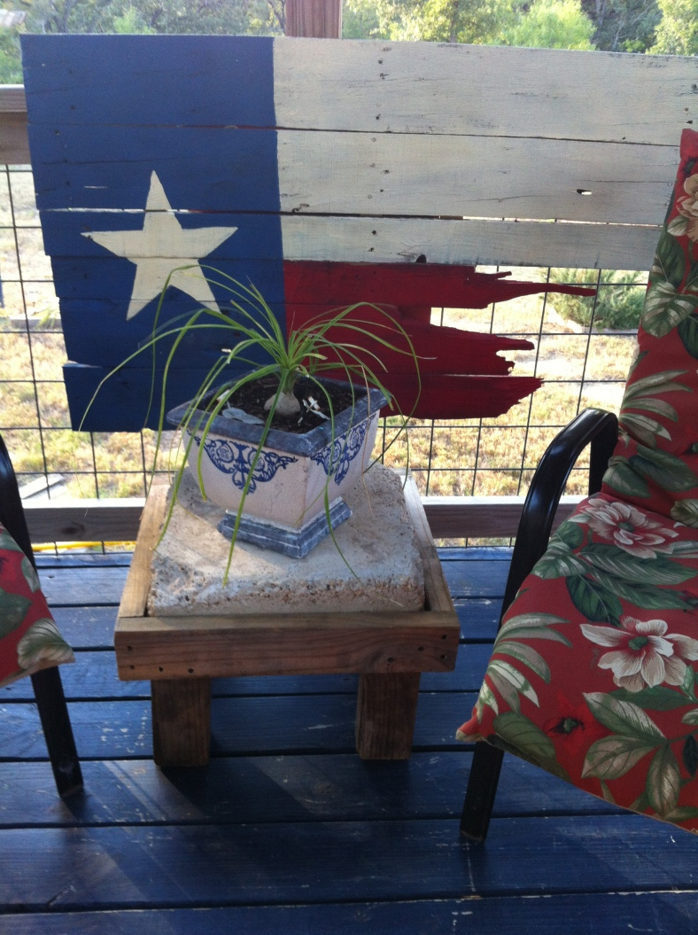 Pallet art, Texas flag, easy project.