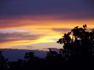An awe inspiring sunset